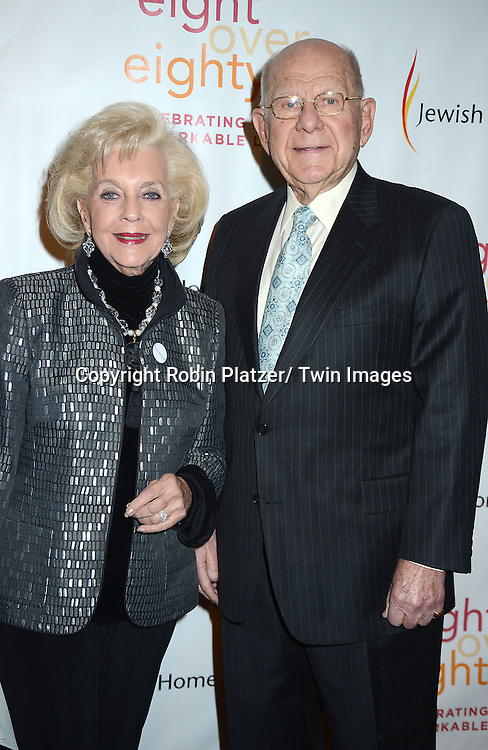 Joy Henschel  and David Rubin attend the Eight Over Eighty Benefit Gala benefiting <br /> The Jewish Home Lifecare on March 5, 2014 at the Mandarin Oriental New York.