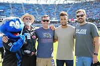 San Jose, CA - Saturday July 29, 2017: John Burke, Chris Guenther, Matheus Silva, Peterson prior to a Major League Soccer (MLS) match between the San Jose Earthquakes and Colorado Rapids at Avaya Stadium.