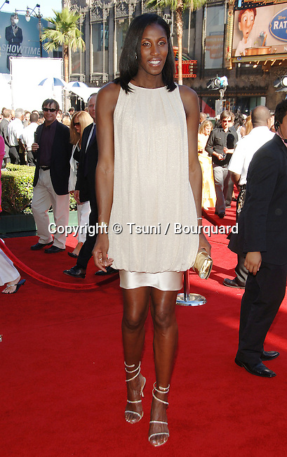 Lisa Leslie  arriving at the ESPY Awards at the Kodak Theatre in Los Angeles.<br /> <br /> full length<br /> eye contact<br /> smile