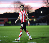 Lincoln City's Bruno Andrade<br /> <br /> Photographer Andrew Vaughan/CameraSport<br /> <br /> The EFL Sky Bet League Two - Lincoln City v Port Vale - Tuesday 1st January 2019 - Sincil Bank - Lincoln<br /> <br /> World Copyright © 2019 CameraSport. All rights reserved. 43 Linden Ave. Countesthorpe. Leicester. England. LE8 5PG - Tel: +44 (0) 116 277 4147 - admin@camerasport.com - www.camerasport.com