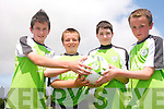 Friends together at the FAI summer soccer school in Mastergeeha pitch last week. <br />L-R Conor Sheahan, Darren Lehane, Darragh O'Leary and Sean Brosnan.