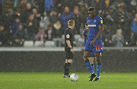 Bolton Wanderers' Sammy Ameobi looks dejected after Swansea City's second goal, scored by Bersant Celina (not in picture)<br /> <br /> Photographer Kevin Barnes/CameraSport<br /> <br /> The EFL Sky Bet Championship - Swansea City v Bolton Wanderers - Saturday 2nd March 2019 - Liberty Stadium - Swansea<br /> <br /> World Copyright © 2019 CameraSport. All rights reserved. 43 Linden Ave. Countesthorpe. Leicester. England. LE8 5PG - Tel: +44 (0) 116 277 4147 - admin@camerasport.com - www.camerasport.com