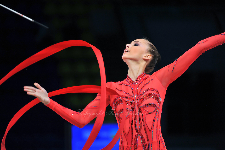 "VIKTORIA SHYNKARENKO of Ukraine performs at 2011 World Cup Kiev, ""Deriugina Cup"" in Kiev, Ukraine on May 7, 2011."