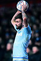 Leeds United's Stuart Dallas takes a throw-in<br /> <br /> Photographer Richard Martin-Roberts /CameraSport<br /> <br /> The EFL Sky Bet Championship - Brentford v Leeds United - Tuesday 11th February 2020 - Griffin Park - Brentford<br /> <br /> World Copyright © 2020 CameraSport. All rights reserved. 43 Linden Ave. Countesthorpe. Leicester. England. LE8 5PG - Tel: +44 (0) 116 277 4147 - admin@camerasport.com - www.camerasport.com