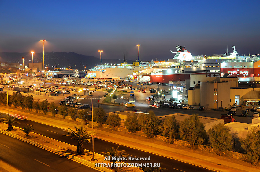 Passanger sea port in Heraklion with speedy ferries to the islands. Crete, Greece