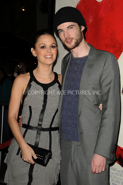 WWW.ACEPIXS.COM . . . . . ....February 1 2011, Los Angeles....Actress Rachel Bilson (L) and actor Tom Sturridge arriving at the Los Angeles Premiere of 'Waiting For Forever' at the Pacific Theatres at The Grove on February 1, 2011 in Los Angeles, CA ....Please byline: PETER WEST - ACEPIXS.COM....Ace Pictures, Inc:  ..(212) 243-8787 or (646) 679 0430..e-mail: picturedesk@acepixs.com..web: http://www.acepixs.com