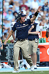 24 September 2016: Pitt tight ends coach Tim Salem. The University of North Carolina Tar Heels hosted the University of Pittsburgh Panthers at Kenan Memorial Stadium in Chapel Hill, North Carolina in a 2016 NCAA Division I College Football game. UNC won the game 37-36.