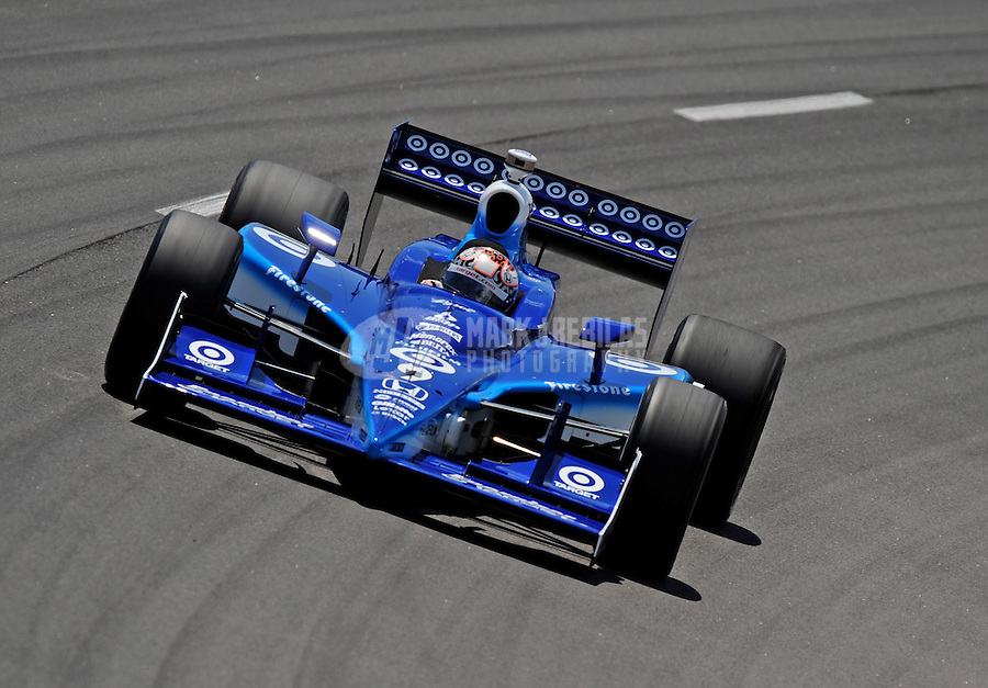 Jun. 20, 2008; Newton, IA, USA; IRL driver Scott Dixon during practice for the Iowa Corn Indy 250 at the Iowa Speedway. Mandatory Credit: Mark J. Rebilas-