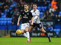 Bolton Wanderers' Josh Vela  loses the ball to Tom Cairney  of Fulham <br /> <br /> Photographer Leila Coker/CameraSport<br /> <br /> The EFL Sky Bet Championship - Bolton Wanderers v Fulham - Saturday 10th February 2018 - Macron Stadium - Bolton<br /> <br /> World Copyright &copy; 2018 CameraSport. All rights reserved. 43 Linden Ave. Countesthorpe. Leicester. England. LE8 5PG - Tel: +44 (0) 116 277 4147 - admin@camerasport.com - www.camerasport.com