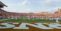 09 September 2006: Texas take the field for warm ups prior to the Longhorns 24-7 loss to the Ohio State Buckeyes at Darrell K Royal Memorial Stadium in Austin, TX.