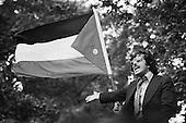 Haroun Jadhakhan, speaker on Palestine and Lybia.  Speakers Corner, Hyde Park, London; July 1978.