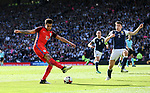 England's Dele Alli fires in a shot during the FIFA World Cup Qualifying match at Hampden Park Stadium, Glasgow Picture date 10th June 2017. Picture credit should read: David Klein/Sportimage