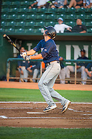 Milan Post (12) of the Helena Brewers at bat against the Ogden Raptors in Pioneer League action at Lindquist Field on August 19, 2015 in Ogden, Utah. Ogden defeated Helena 4-2.  (Stephen Smith/Four Seam Images)
