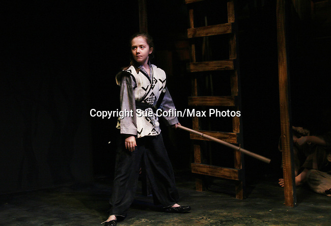 Isabella Convertino (daughter of Liz Keifer & Bobby) is in the play 7 Samurai - December 7 - December 19, 2009 at the Phillipstown Depot Theatre, Garrison, New York. (Photo by Sue Coflin/Max Photos)