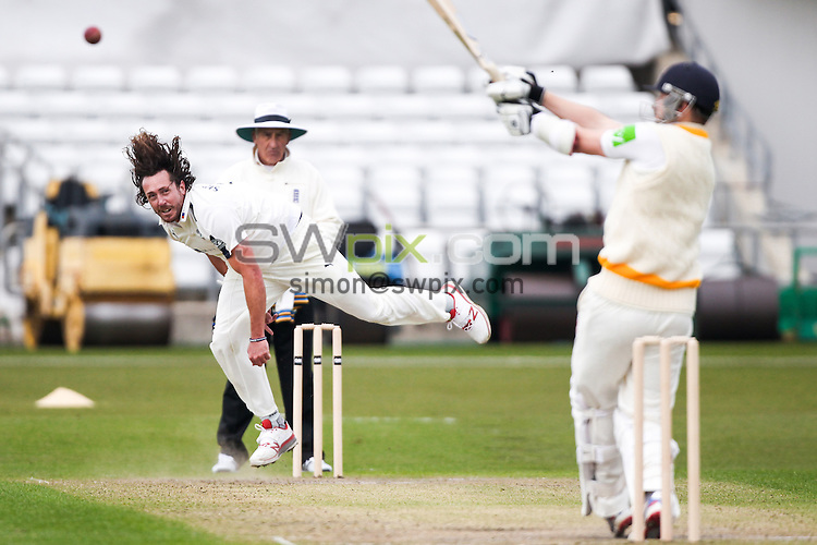 Picture by Alex Whitehead/SWpix.com - 11/04/2016 - Cricket - Yorkshire CCC vs Leeds/Bradford MCCU, Day 1 - Headingley Cricket Ground, Leeds, England - Yorkshire's Ryan Sidebottom bowls.