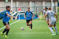 Kansas City, MO - Thursday August 10, 2017: Desiree Scott during a regular season National Women's Soccer League (NWSL) match between FC Kansas City and the North Carolina Courage at Children's Mercy Victory Field.