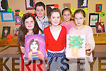 The creative talent of children in Kilgarvan were on display at the community centre on Sunday morning with the Canvas Club art exhibition. .Front L-R Mary Foley, Patricia O'Shea and Chloe McCarthy. .Back L-R Liam Palmer and Christine McCarthy.