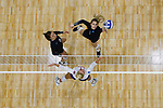 PENSACOLA, FL - DECEMBER 09: Sydney Book (1) of Concordia University, St. Paul reaches for the ball during the Division II Women's Volleyball Championship held at UWF Field House on December 9, 2017 in Pensacola, Florida. (Photo by Timothy Nwachukwu/NCAA Photos via Getty Images)