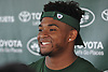 Jamal Adams #33 smiles as he speaks with the media after a day of New York Jets Training Camp at Atlantic Health Jets Training Center in Florham Park, NJ on Tuesday, Aug. 1, 2017.
