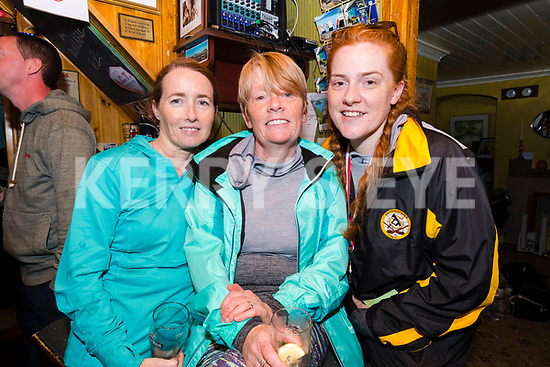 Kathy Jordan (Blennerville) with Liz and Aisling Nicholson (Kilflyn) after walking the Dingle Way Challenge organized by St. Pat's GAA Club on Sunday.