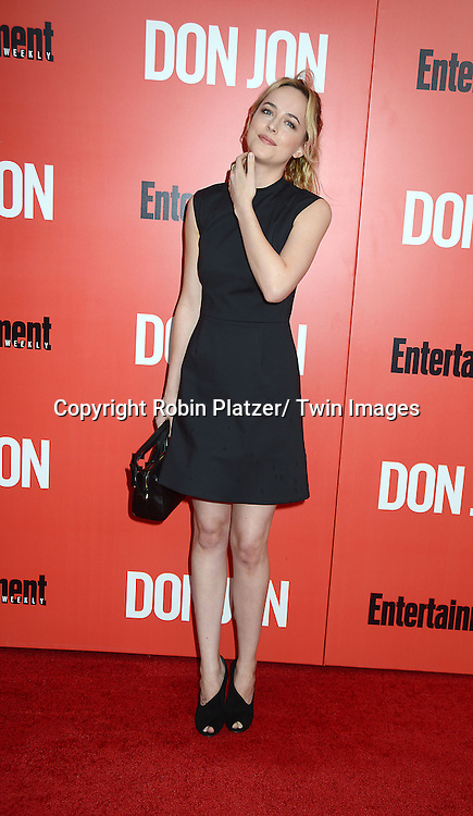 "Dakota Johnson  attends the ""Don Jon"" New York Movie Premiere on September 12, 2013 at the SVA Theatre in New York City."
