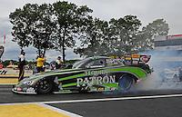 Jun. 2, 2012; Englishtown, NJ, USA: NHRA funny car driver Alexis DeJoria during qualifying for the Supernationals at Raceway Park. Mandatory Credit: Mark J. Rebilas-