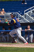 State College Spikes first baseman Casey Grayson (38) at bat aduring a game against the Batavia Muckdogs August 23, 2015 at Dwyer Stadium in Batavia, New York.  State College defeated Batavia 8-2.  (Mike Janes/Four Seam Images)