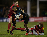 Bath Rugby's Aled Brew in action during todays match<br /> <br /> Photographer Bob Bradford/CameraSport<br /> <br /> European Champions Cup Round 5 - Bath Rugby v Scarlets - Friday 12th January 2018 - The Recreation Ground - Bath<br /> <br /> World Copyright &copy; 2018 CameraSport. All rights reserved. 43 Linden Ave. Countesthorpe. Leicester. England. LE8 5PG - Tel: +44 (0) 116 277 4147 - admin@camerasport.com - www.camerasport.com