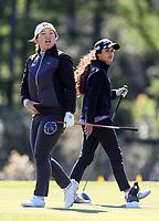 Darae Chung and Tara Raj. New Zealand Amateur Championship, Wairakei Golf Course and Sanctuary, Taupo, New Zealand, Friday 2 November 2018. Photo: Simon Watts/www.bwmedia.co.nz