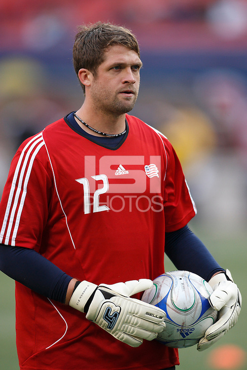 New England Revolution goalkeeper Doug Warren (12). The New York Red Bulls and the New England Revolution played to a 1-1 tie during a Major League Soccer match at Giants Stadium in East Rutherford, NJ, on April 19, 2008.