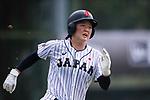 #2 Ogata Yuka of Japan runs after bating during the BFA Women's Baseball Asian Cup match between Japan and India at Sai Tso Wan Recreation Ground on September 6, 2017 in Hong Kong. Photo by Marcio Rodrigo Machado / Power Sport Images