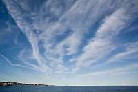 clouds over water, from Bass Rocks, Cape Ann, MA