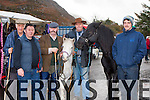 John O'Donoghue Limerick, Tom Dwyer, Listowel, John Cronin Killorglin, Damian Gleasure Kilflynn and Jason Rogers Tralee at the Gap of Dunloe horse fair on Sunday