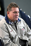 16 January 2004: John Ellinger, head coach of the US Under-17 (U17) national team, watches the draft. The Major League Soccer SuperDraft was held at the Charlotte Convention Center in Charlotte, NC as part of the annual National Soccer Coaches Association of America convention..