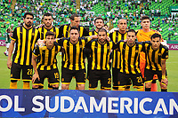 PALMIRA - COLOMBIA, 22-05-2019: Jugadores de Peñarol posan para una foto previo al e partido entre Deportivo Cali de Colombia y Club Atlético Peñarol de Uruguay por la segunda ronda de la Copa CONMEBOL Sudamericana 2019 jugado en el estadio Deportivo Cali de la ciudad de Palmira. / Players of Peñarol pose to a photo prior match between Deportivo Cali of Colombia and Club Atletico Peñarol of Uruguay for the second round as part Copa CONMEBOL Sudamericana 2019 played at Deportivo Cali stadium in Palmira city.  Photo: VizzorImage / Nelson Rios / Cont