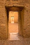 Pueblo Bonito doorways..Chaco Culture National Historical Park