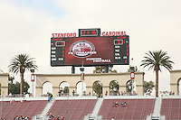 14 October 2006: The HP Junior Photographer marketing logo on the scoreboard, during Stanford's 20-7 loss to Arizona during Homecoming at Stanford Stadium in Stanford, CA.