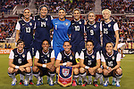 15 December 2012: U.S. starters. Front row (l to r): Amy LePeilbet (USA), Shannon Boxx (USA), Christie Rampone (USA), Kelley O'Hara (USA), Rachel Buehler (USA). Back row (l to r): Alex Morgan (USA), Abby Wambach (USA), Hope Solo (USA), Carli Lloyd (USA), Heather O'Reilly (USA), Megan Rapinoe (USA). The United States Women's National Team played the China Women's National Team at FAU Stadium in Boca Raton, Florida in a women's international friendly soccer match. The U.S. won the game 4-1.