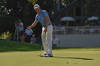 Justin Thomas (USA) barely misses his putt on 16 during 3rd round of the World Golf Championships - Bridgestone Invitational, at the Firestone Country Club, Akron, Ohio. 8/4/2018.<br /> Picture: Golffile | Ken Murray<br /> <br /> <br /> All photo usage must carry mandatory copyright credit (© Golffile | Ken Murray)