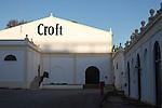 Croft sherry brand sign on building, Gonzalez Byass bodega, Jerez de la Frontera, Cadiz province, Spain