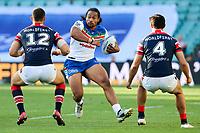 Bunty Afoa. Sydney Roosters v Vodafone Warriors, NRL Rugby League. Allianz Stadium, Sydney, Australia. 31st March 2018. Copyright Photo: David Neilson / www.photosport.nz