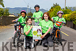 Natasha Donegan,Lilly O'Shea, Tyreek Lonergan, Belle O'Shea,  and Anthony Pattwell who are cycling 500km in May for Barnardos around their 5km in Killorglin