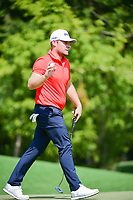 Tyrell Hatton (ENG) after sinking his birdie putt on 8 during Friday's round 2 of the PGA Championship at the Quail Hollow Club in Charlotte, North Carolina. 8/11/2017.<br /> Picture: Golffile | Ken Murray<br /> <br /> <br /> All photo usage must carry mandatory copyright credit (&copy; Golffile | Ken Murray)