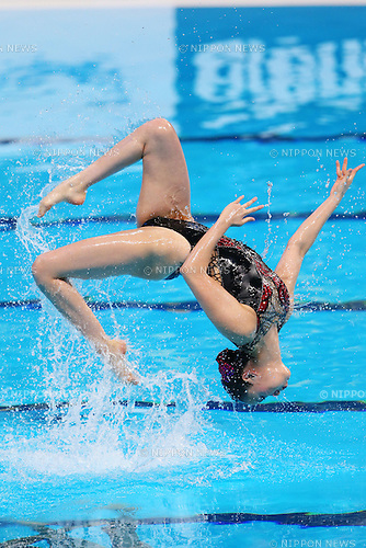 Yukiko Inui (JPN), JULY 30, 2015 - Synchronised Swimming : 16th FINA World Championships Kazan 2015 Duets Free Routine Final at Kazan Arena in Kazan, Russia. (Photo by Yohei Osada/AFLO SPORT)