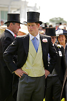 Prince Harry wears a top hat and mourning suit in the Royal Enclosure at The Epsom Derby - June 2011