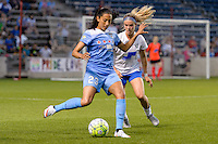 Bridgeview, IL - Saturday June 18, 2016: Christen Press during a regular season National Women's Soccer League (NWSL) match between the Chicago Red Stars and the Boston Breakers at Toyota Park.