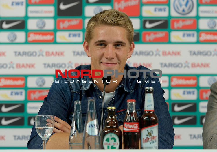 02.07.2012, Weserstadion, Bremen, GER, 1.FBL, Werder Bremen Vorstellung Nils Petersen, im Bild Nils Petersen (Bremen #24)<br /> <br /> // during press conference of Werder Bremen on 2012/07/02, Weserstadion, Bremen, Germany.<br /> Foto &copy; nph / Frisch *** Local Caption ***