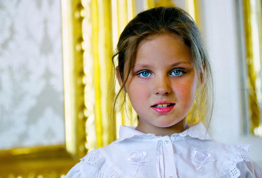 Russian girl, Catherine Palace, Pushkin (near St