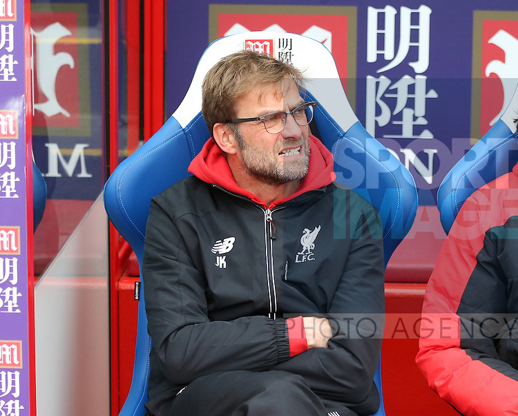 Liverpool's Jurgen Klopp looks on<br /> <br /> - English Premier League - Crystal Palace vs Liverpool  - Selhurst Park - London - England - 6th March 2016 - Pic David Klein/Sportimage