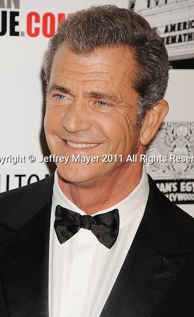 BEVERLY HILLS, CA - OCTOBER 14: Mel Gibson arrives at the The 25th American Cinematheque Award Honoring Robert Downey Jr. at The Beverly Hilton hotel on October 14, 2011 in Beverly Hills, California.